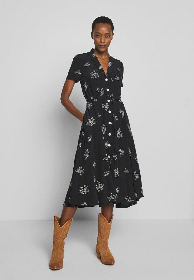 SHORT SLEEVE CASUAL DRESS - Day dress - black