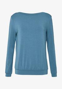 Curare Yogawear - Topper langermet - horizon blue - 3
