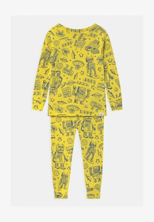 TODDLER BOY ROBOTS - Pyjama set - bright neon yellow