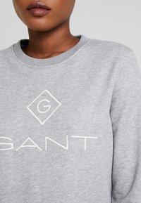 GANT - LOCK UP C-NECK - Sweatshirt - grey melange - 5