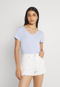 Hollister Co. - EASY MULTIPACK  3 PACK - T-shirt - bas - white/pink mist/xenon blue - 5