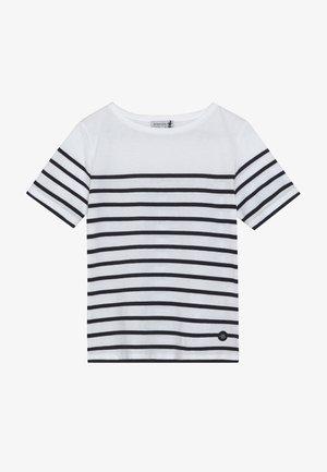 MARINIÈRE ETEL KIDS - Print T-shirt - blanc/navire