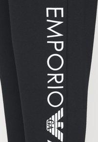 Emporio Armani - PANTS WITH CUFFS - Pyjama bottoms - nero - 4