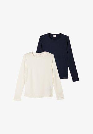 2PACK - Long sleeved top - cream/navy