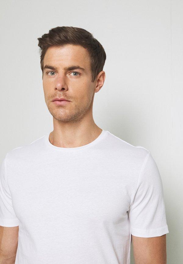 Pier One 7 PACK - T-shirt basic - white/biały Odzież Męska RGBP
