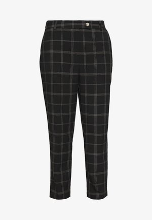 EDIT GRID CHECK ANKLE GRAZER - Kalhoty - black
