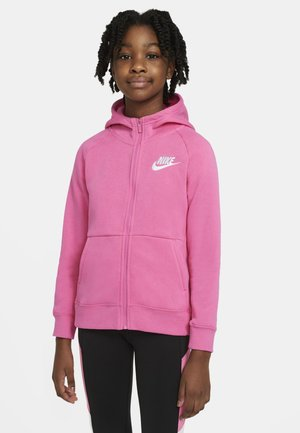 FULL ZIP - veste en sweat zippée - pinksicle/white