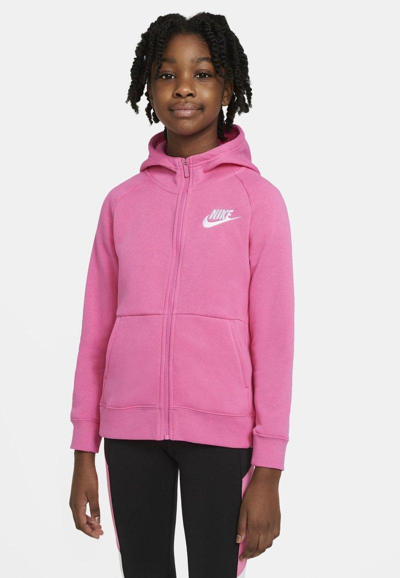 Nike Sportswear - FULL ZIP - Hoodie met rits - pinksicle/white