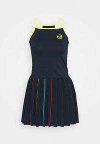 sergio tacchini - IRIS DRESS - Sports dress - navy/acid lime - 0