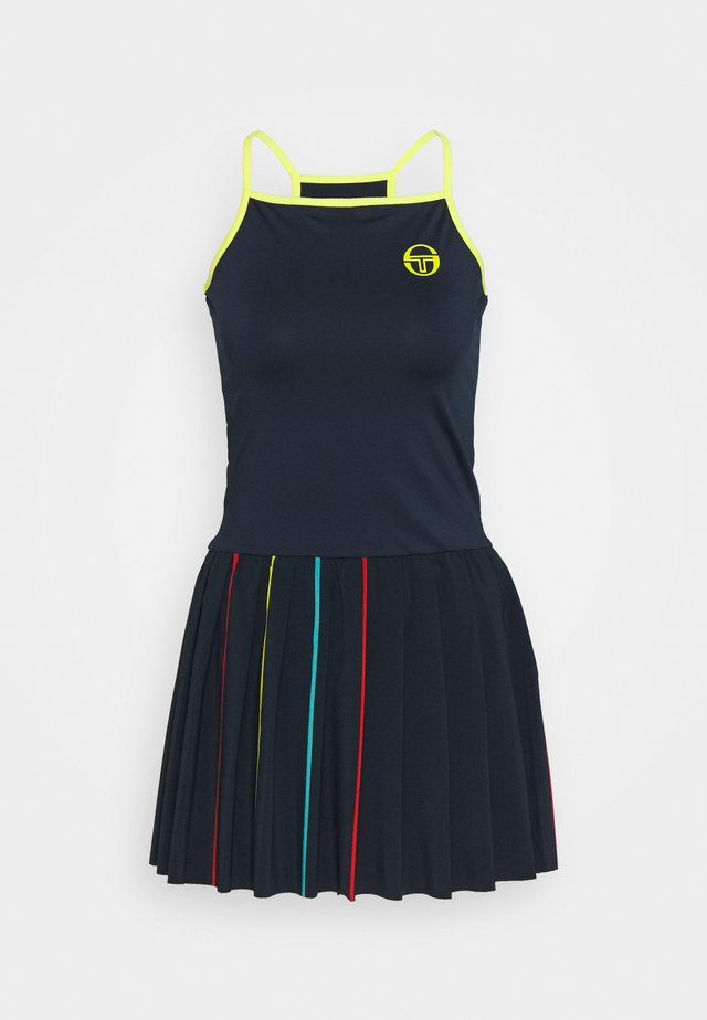 IRIS DRESS - Vestido de deporte - navy/acid lime