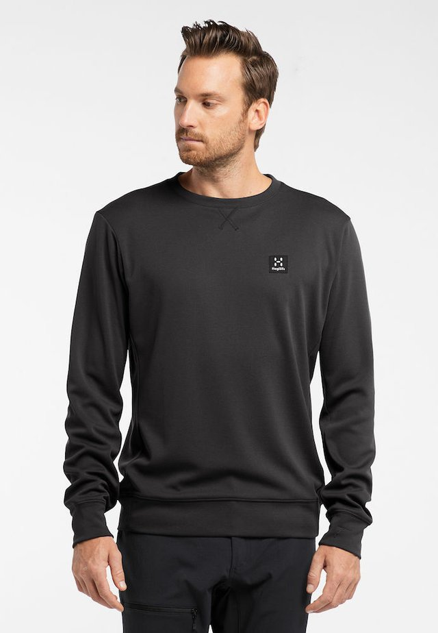 H CREW NECK - Sweatshirt - true black