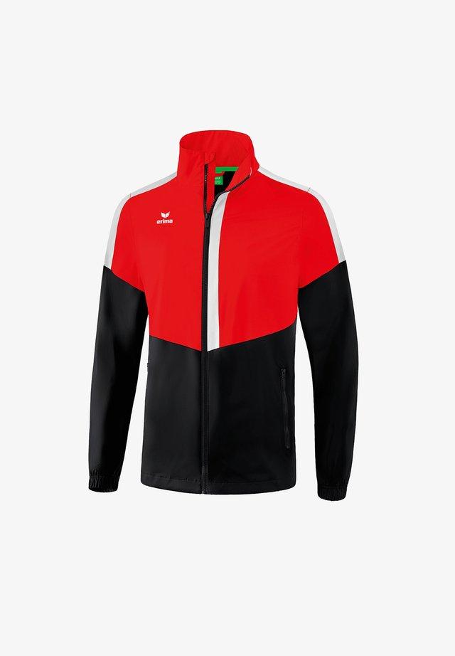 Training jacket - rotschwarzweiss