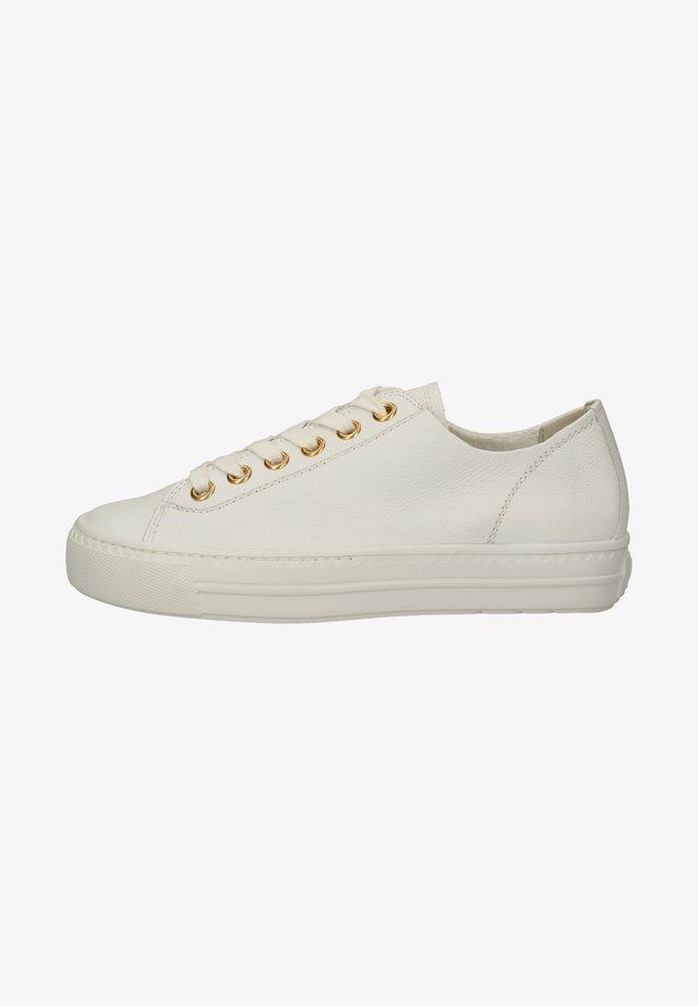 Baskets basses - weiß/gold