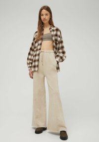 PULL&BEAR - Button-down blouse - mottled brown - 1