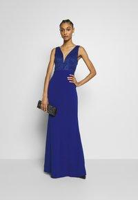 WAL G. - SLEEVLESS VNECK DRESS WITH SIDES - Suknia balowa - cobalt blue - 1