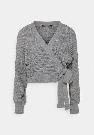 WRAP OVER TIE - Cardigan - grey