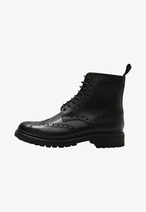 FRED - Lace-up ankle boots - black grain