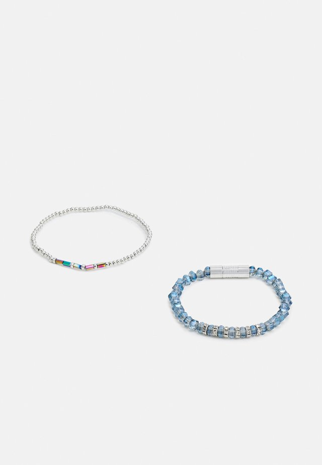2PACK BEADED BRACELETS - Armband - silver