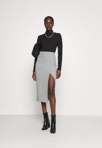 Zign - Pencil skirt - mottled grey - 1