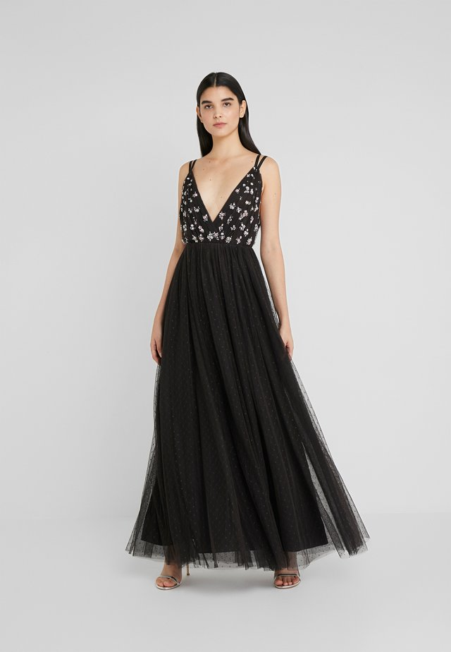 NEVE EMBELLISHED BODICE MAXI DRESS - Abito da sera - ballet black