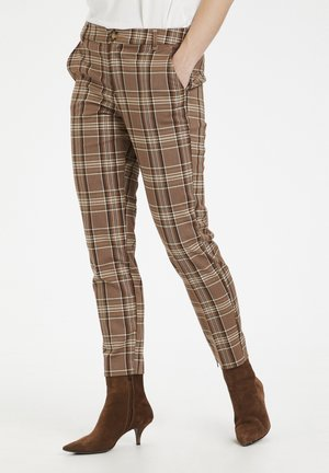 CUMANDY MW CIGARETTE - Trousers - brown check