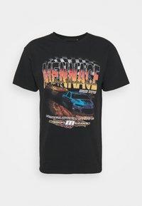 WASHED PETROL RACE  - T-shirt imprimé - black