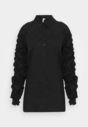 RUCHE SLEEVE SHIRT - Blouse - black
