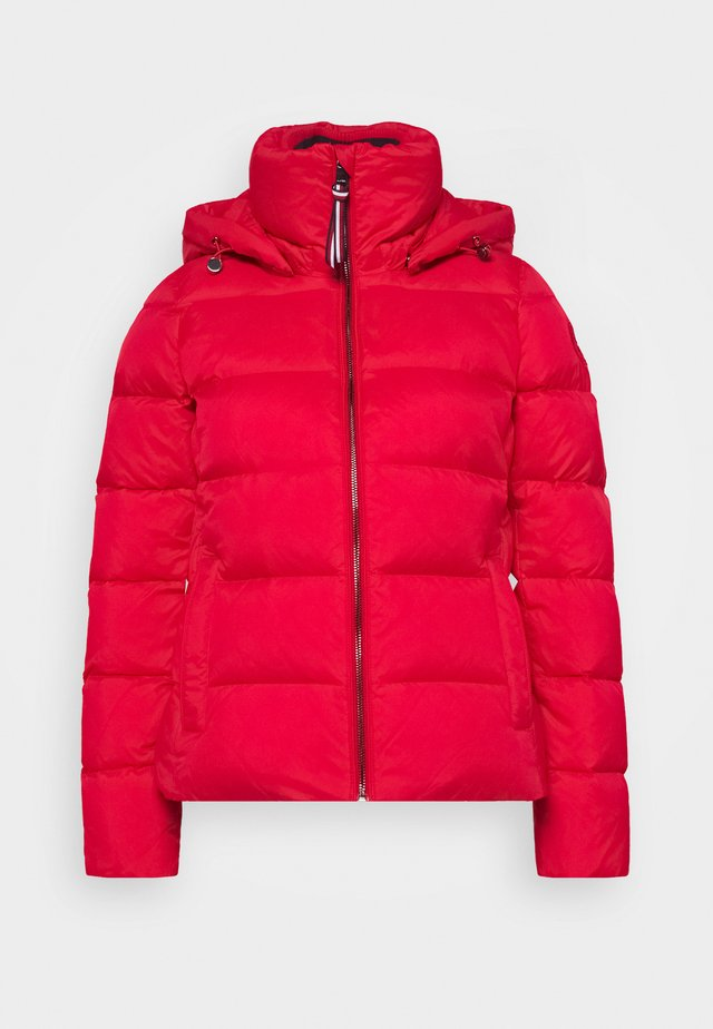 GLOBAL STRIPE - Down jacket - primary red