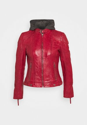 CACEY - Leather jacket - red