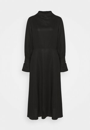 MIDI DRESS WITH BUTTON SLEEVE - Robe d'été - black