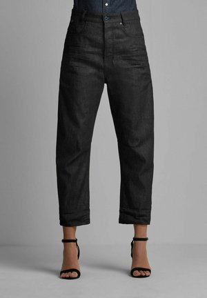 C-STAQ 3D BOYFRIEND CROPPED - Straight leg jeans - pitch black