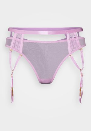 MILANA THONG WITH OVERLAY SUSPENDER STRAPS - String - lilac