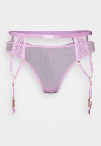 MILANA THONG WITH OVERLAY SUSPENDER STRAPS