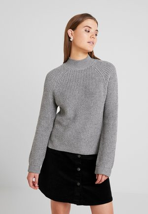 NMSIESTA HIGH NECK CROPPED - Jumper - medium grey melange