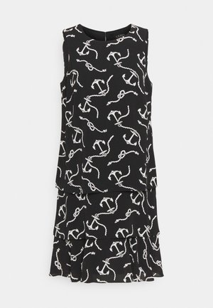 PRINTED DRESS - Freizeitkleid - black/col cream