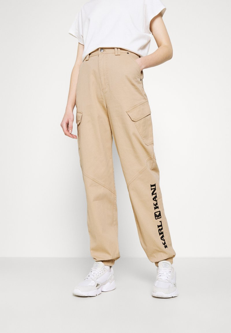 Karl Kani - RETRO PANTS - Trousers - sand