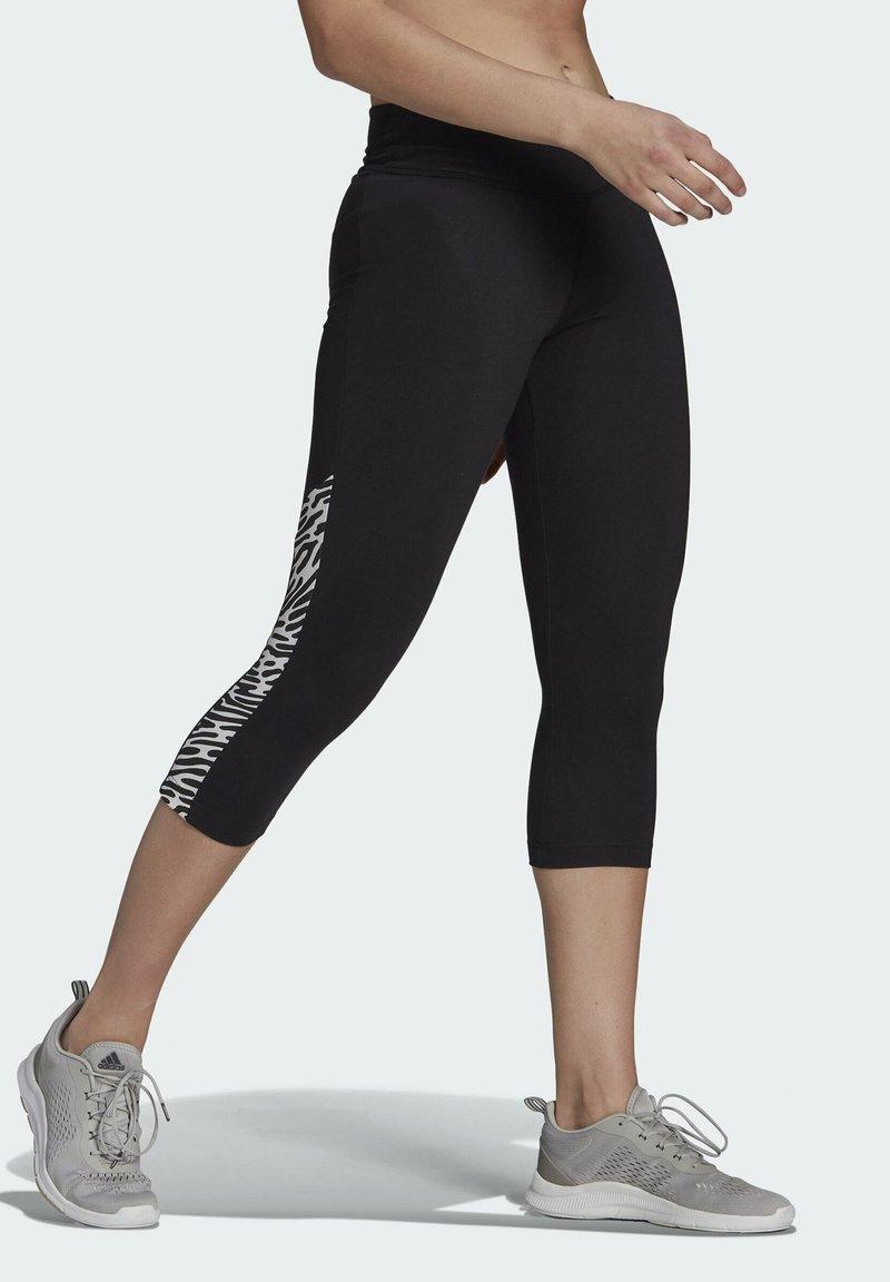 adidas Performance - U4U AEROREADY 3/4 LEGGINGS - 3/4 sports trousers - black