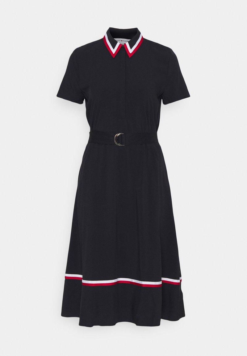 Tommy Hilfiger - HEAVY  KNEE DRESS - Shirt dress - desert sky
