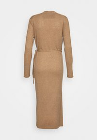 pure cashmere - WRAP DRESS - Jumper dress - dark beige - 1