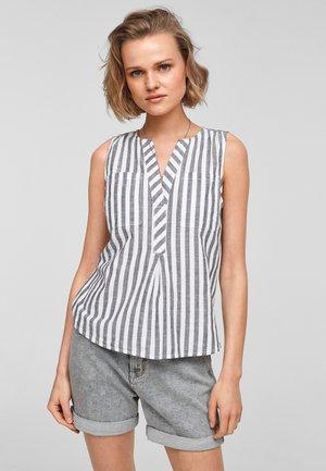 Blouse - black stripes