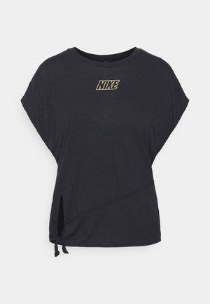 DRY TIE - T-shirts - black/metallic gold