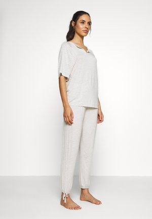 HANGING STRIPE SET - Pyjama set - oatmeal mix