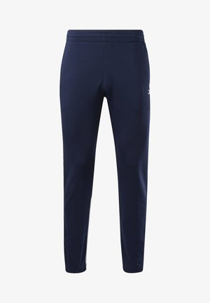 TRAINER ESSENTIALS LINERA LOGO JOGGER - Pantalon de survêtement - blue