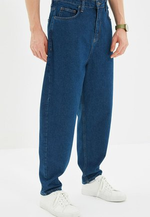 Relaxed fit jeans - navy blue