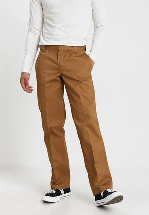 873 SLIM STRAIGHT WORK PANT - Bukser - brown duck