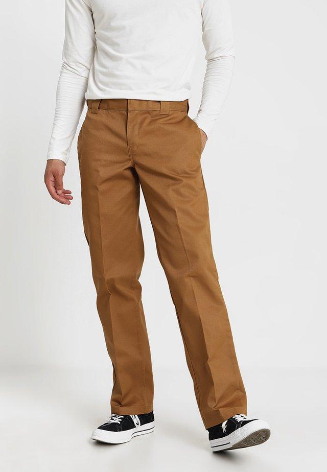 873 SLIM STRAIGHT WORK PANT - Trousers - brown duck