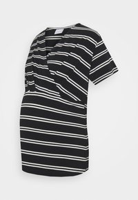 Mamalicious Curve - MLSIA  2 PACK - T-shirt z nadrukiem - snow white/black - 3