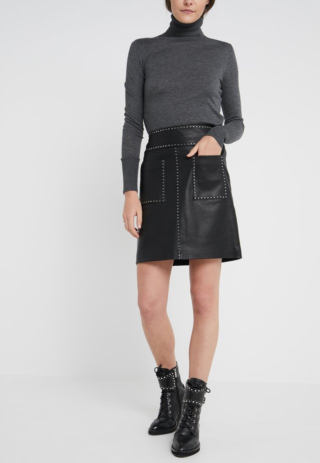 LUXURY SKIRT - Spódnica trapezowa - black