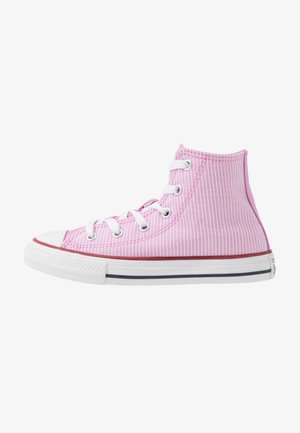 CHUCK TAYLOR ALL STAR PINSTRIPE - High-top trainers - peony pink/garnet/white