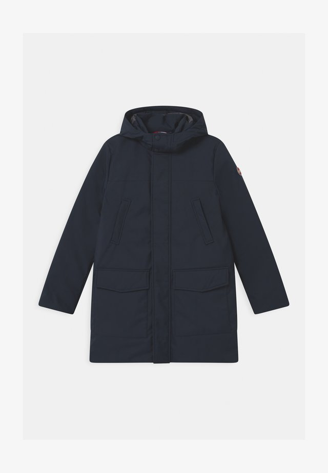 BOY MEDIUM LENGHT WITH DETACHEABLE HOOD - Piumino - blue black/spike
